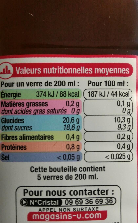 Fraise façon fraisier édition limitée - Nutrition facts - fr
