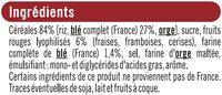 Pétales fruits rouges - Ingrediënten - fr