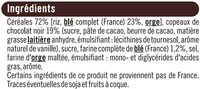 Pétales de riz et de blé orge chocolat noir - Ingrédients
