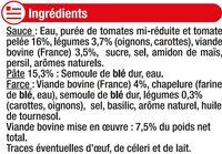 Ravioli pur boeuf - Ingredients