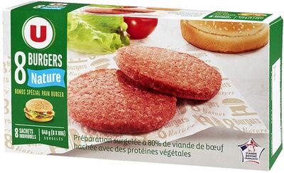 Burgers ronds nature 80% Viande de Boeuf Française 20% de MG - Product