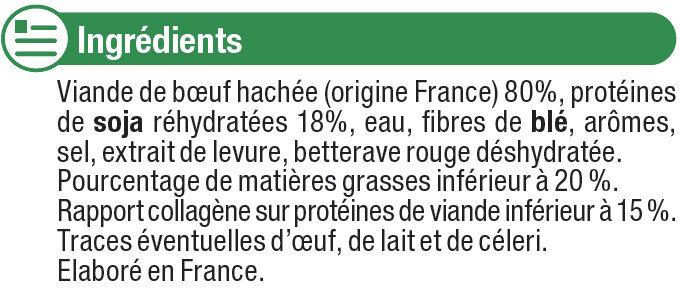 Burgers ronds nature 80% Viande de Boeuf Française 20% de MG - Ingredients