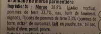 Brandade de morue transformée en France - Ingrédients - fr