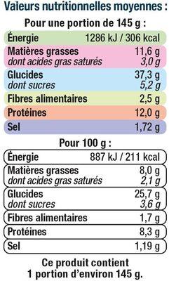 Bagel au saumon - Informations nutritionnelles - fr