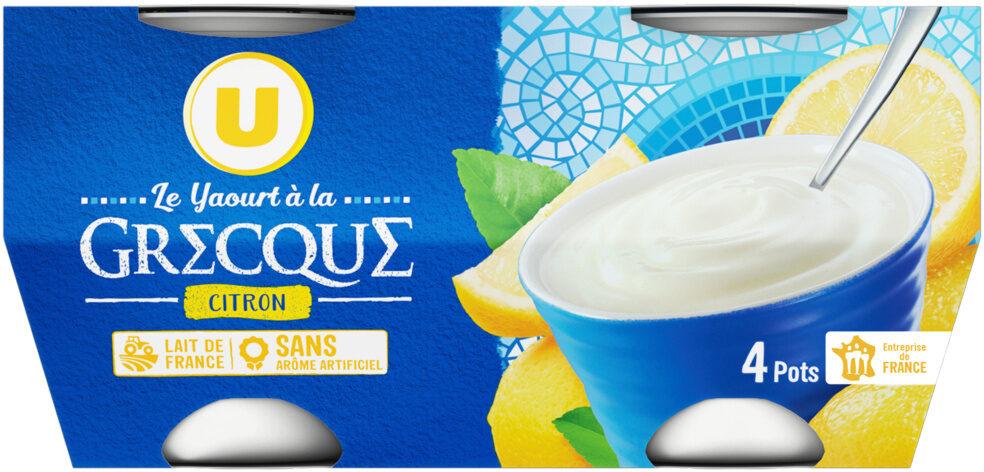Yaourt à la grecque au citron - Product - fr