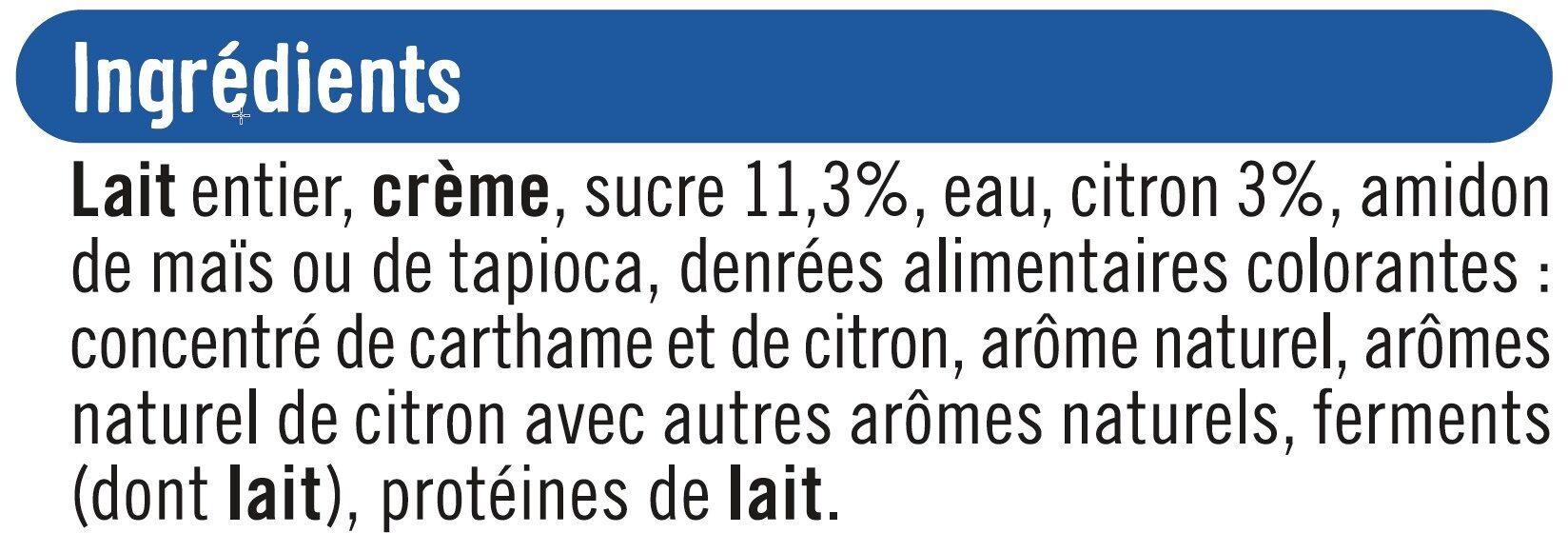 Yaourt à la grecque au citron - Ingredients - fr