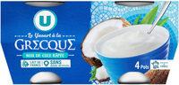 Yaourt à la grecque coco - Prodotto - fr