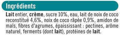 Yaourt à la grecque coco - Ingredients