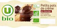Petits pots de crème cuit au four au chocolat issus de l'agriculture biologique - Prodotto - fr
