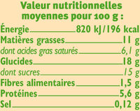 Petits pots de crème cuit au four au chocolat issus de l'agriculture biologique - Valori nutrizionali - fr