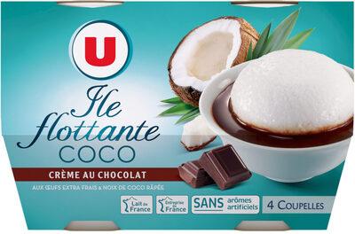 Île flottante à la noix de coco et crème au chocolat - Produit - fr