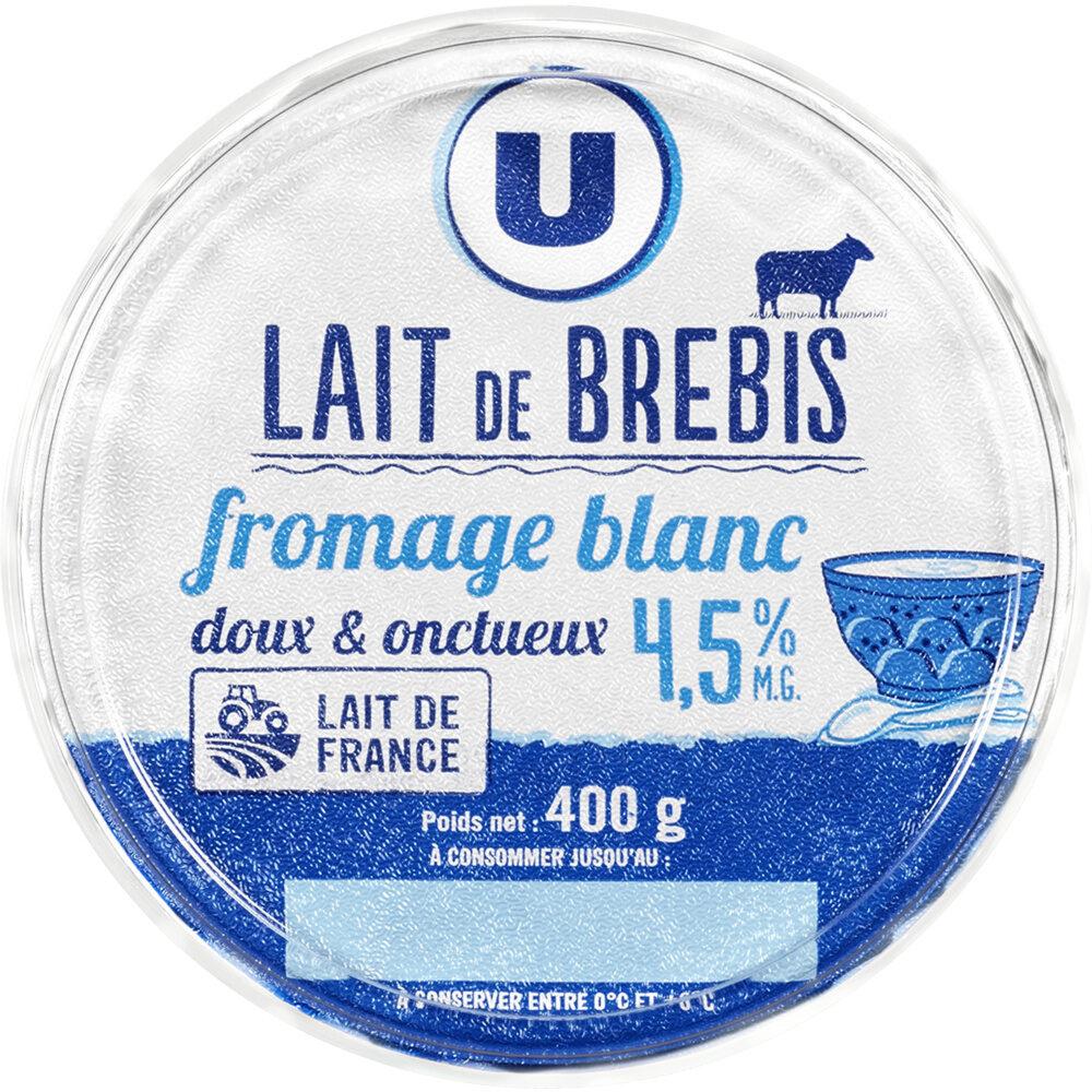 Fromage blanc au lait de brebis enrichi vit.D 5% de matière grasse - Produit - fr