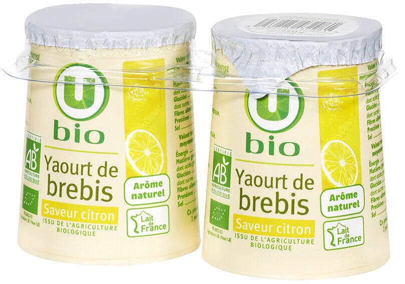 Yaourt au lait de brebis saveur citron - Produit