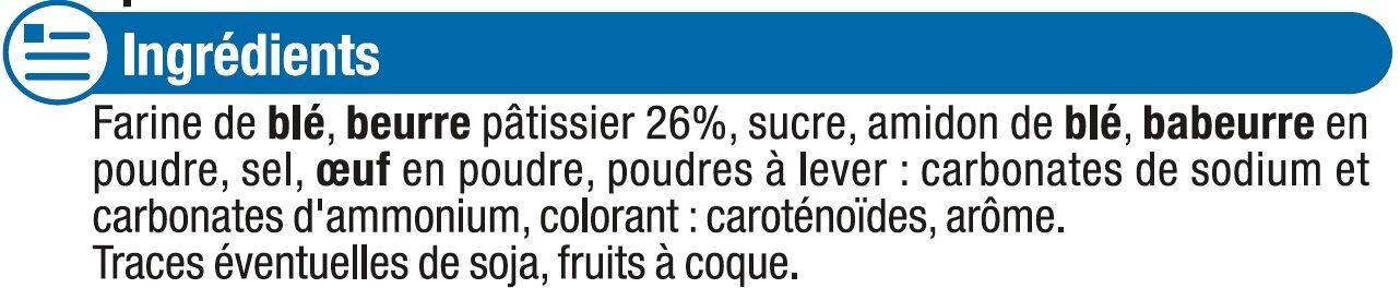 Sprits au Beurre - Ingredients - fr