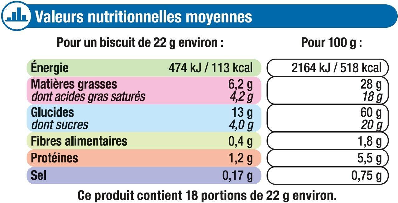 Sprits au Beurre - Nutrition facts - fr
