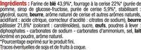 Sablés pur beurre coeur de cerise - Ingredients - fr