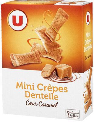 Mini crêpes dentelles coeur de caramel - Produit - fr