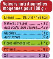 Assortiment dessert colore - Nutrition facts