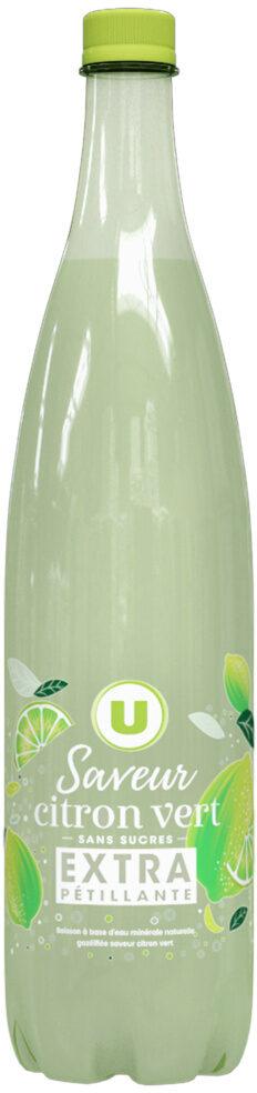 Boisson à base d'eau gazeuse extra pétillant saveur citron zéro sucre - Produit