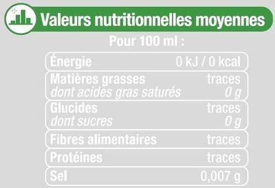 Boisson à base d'eau gazeuse extra pétillant saveur citron vert zéro sucre - Nutrition facts