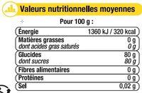 Miel crémeux de citronnier - Nutrition facts