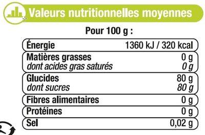 Miel de Tilleul - Nutrition facts