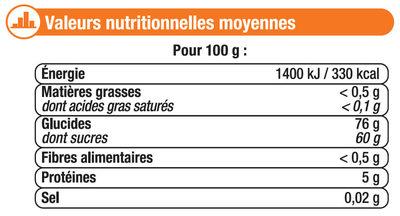 Bonbons gélifiés les rampants - Informations nutritionnelles