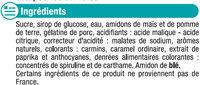 Bonbons gélifiés mix party acides - Ingrédients