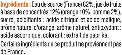 Boisson aux jus de fruits plate orange - Ingrédients - fr