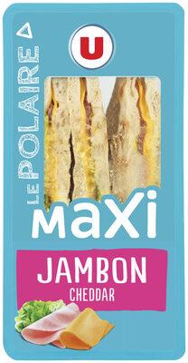 Sandwich maxi club, pain polaire, jambon cheddar - Product - fr