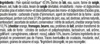 Sandwich maxi club, pain polaire, jambon cheddar - Ingredients - fr