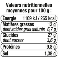 Sandwich maxi club, pain polaire, jambon cheddar - Nutrition facts - fr