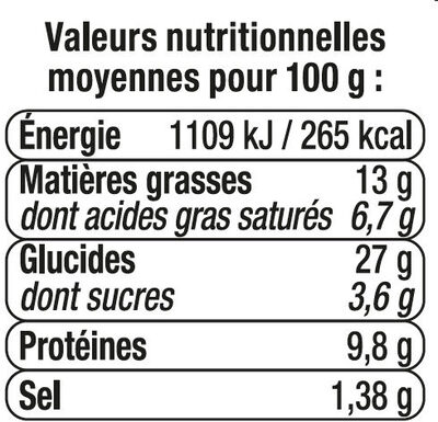 Sandwich maxi club, pain polaire, jambon cheddar, - Nutrition facts