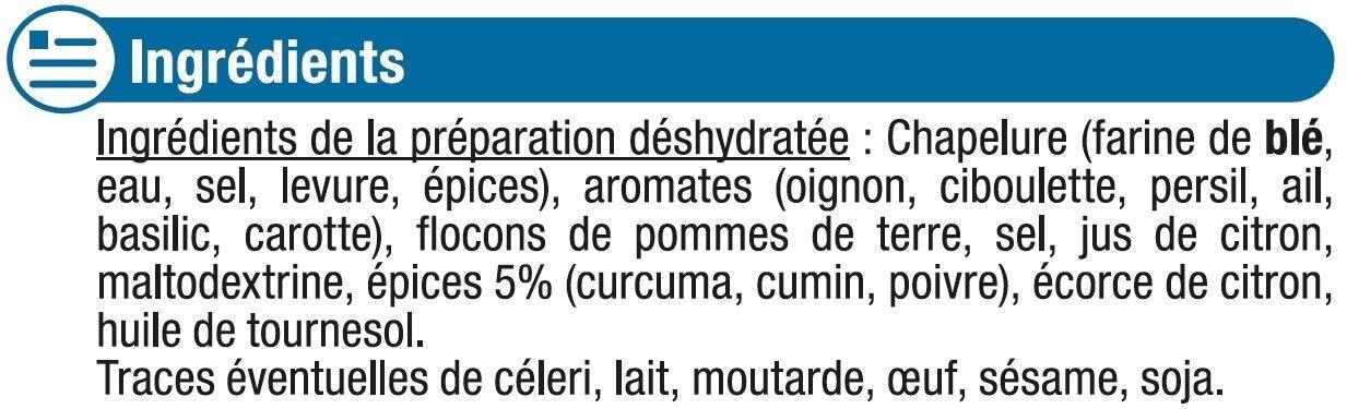 Poisson croûte d'épices cuisinez facile - Ingredients - fr