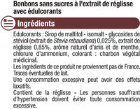 Bonbons à la réglisse sans sucre stevia - Ingrédients - fr