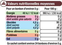 Bonbons à la réglisse sans sucre stevia - Voedingswaarden - fr