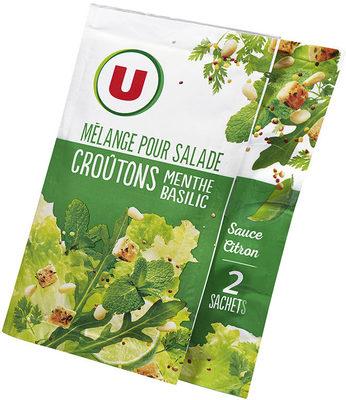 Mélange pour salade croûtons menthe basilic sauce citron - Product - fr