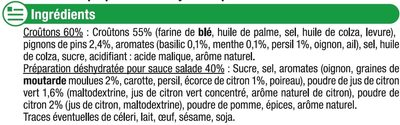 Mélange pour salade croûtons menthe basilic sauce citron - Ingrediënten - fr