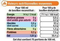 Bouillon de Volaille - Informations nutritionnelles