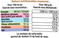 Fond de Veau - Voedingswaarden - fr