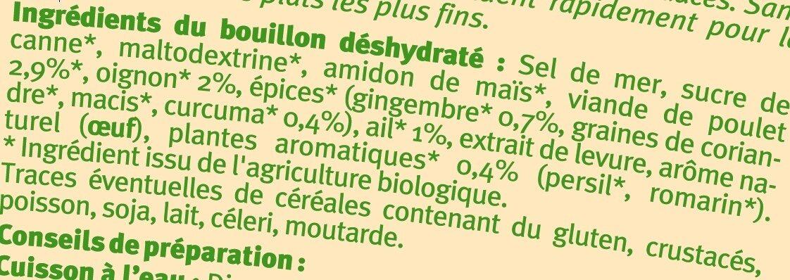 Bouillon instantané volaille - Ingrédients