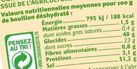 Bouillon instantané volaille - Informations nutritionnelles