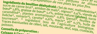 Bouillon instantané avec viande de boeuf - Ingrédients - fr