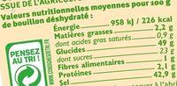 Bouillon instantané avec viande de boeuf - Informations nutritionnelles - fr