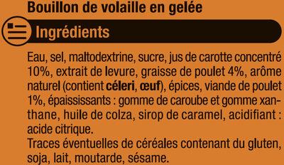 Bouillon gelée Volaille - Ingrédients