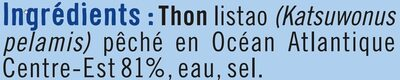 Thon entier listao pêché à la ligne - Ingrediënten - fr