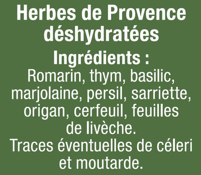 Herbes de Provence - Ingredients