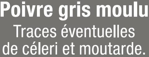 Poivre gris moulu - Ingredients - fr