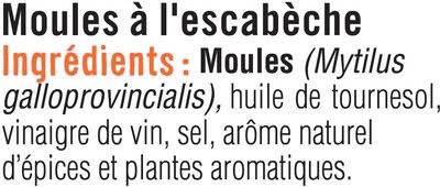 Moules à l'escabècherapaz - Ingredients - fr