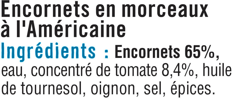 Encornets à l'Américaine - Ingredients